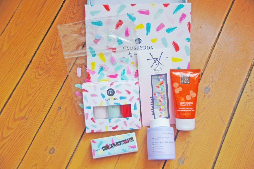 Glossybox, Nailmatic, Glossybox x Nailmatic, box édition limitée, nailart, patch ongles, manucure originale
